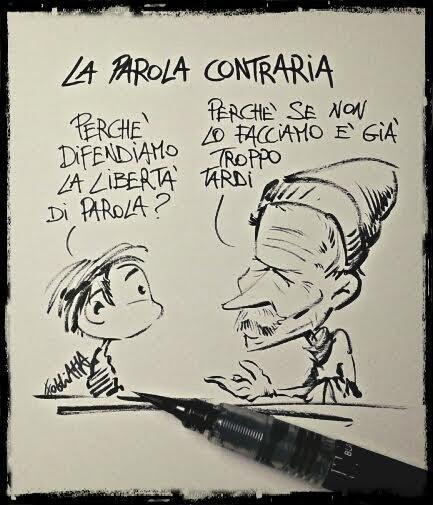 Erri De Luca vignetta