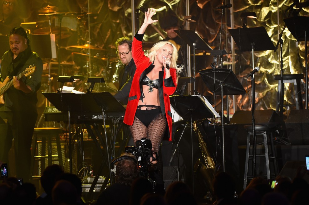 Contemporary Icon Award Recipient Lady Gaga performs onstage at the Songwriters Hall Of Fame 46th Annual Induction And Awards at Marriott Marquis Hotel