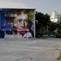 """Scuola media statale """"Ugo Foscolo"""", murales di """"Manu Invisible"""". Foto di Primo Fusari"""