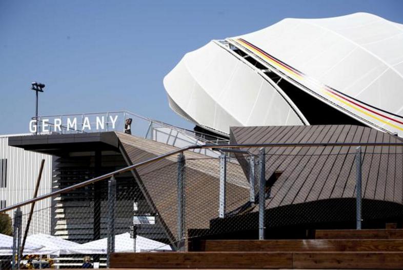 """In questa categoria, sopra i 2.000 metri quadri la medaglia d'oro va alla Germania, """"per l'efficacia dei contenuti innovativi e l'esperienza coinvolgente e interattiva""""."""