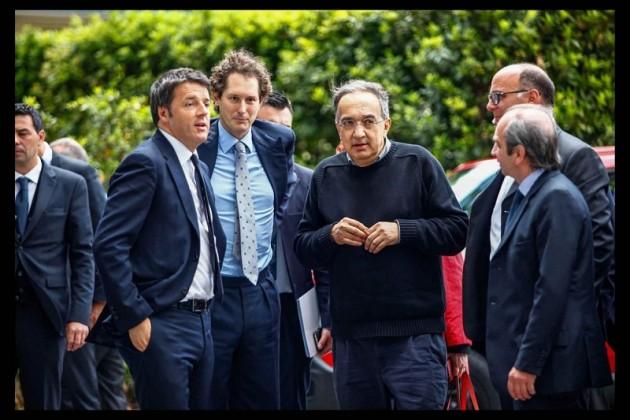 l Primo Ministro Matteo Renzi in visita a Melfi presso gli stabilimenti FCA Portfolio LaPresse