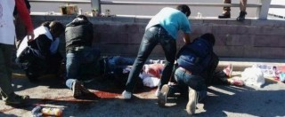 """Turchia, esplosioni ad Ankara prima di corteo pacifista: """"97 morti, 186 feriti. Sono stati due kamikaze"""" (FOTO e VIDEO)"""