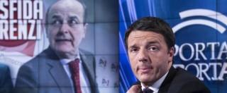 """Tetto contanti, Bersani: """"Renzi non insulti l'intelligenza degli italiani. Chi ha 3mila euro ha sicuramente una carta di credito"""""""