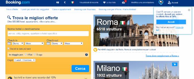 """Ddl concorrenza, Federalberghi batte Booking.com: """"Hotel liberi di fare sconti"""""""