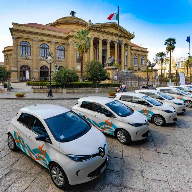 Renault, inaugurato a Palermo il maggiore car sharing elettrico del Sud
