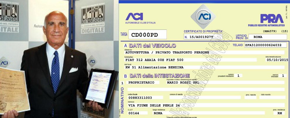 Certificato di proprietà, dal 5 ottobre 2015 diventa digitale. L'Aci non si arrende