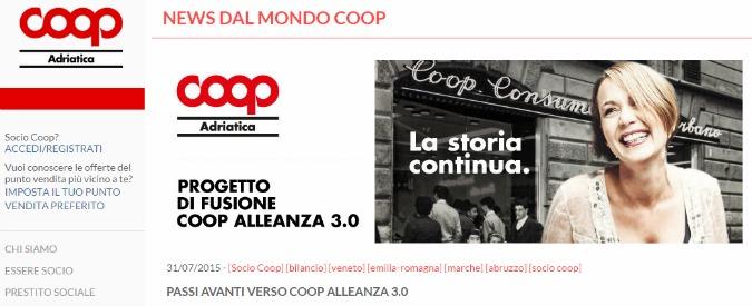 Cooperative, da fusione Coop Adriatica-Estense-Consumatori Nordest nasce Alleanza 3.0. Ha il 20% di Unipol