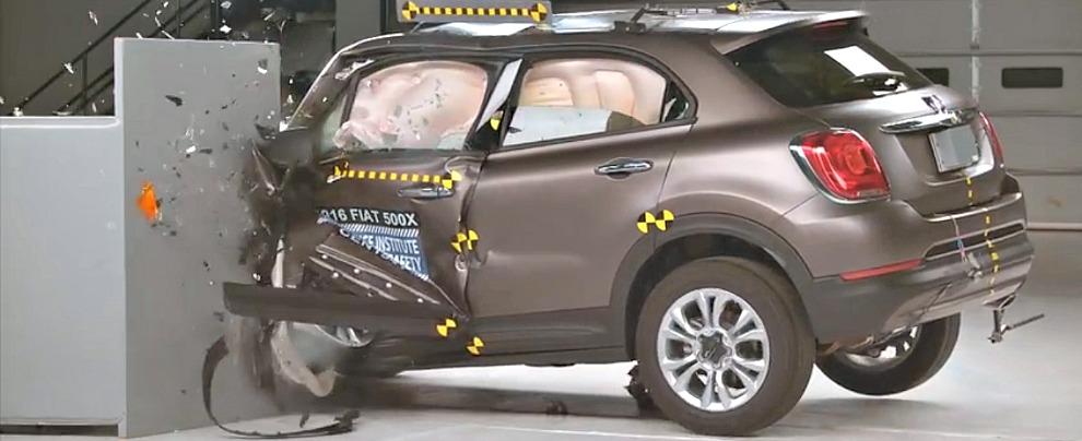 Crash test Fiat 500X, in Europa 4 stelle su 5, in America promossa a pieni voti