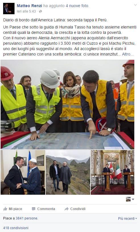 diario Perù Renzi