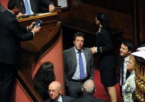 Senato - comunicazioni del presidente del Consiglio Matteo Renzi