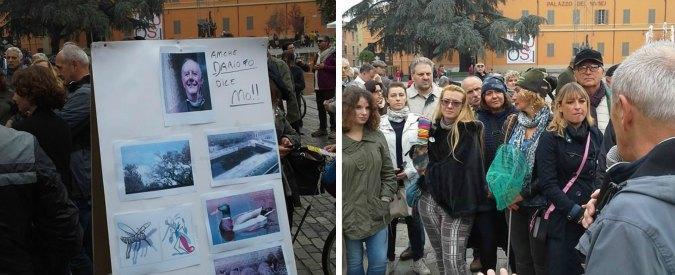 Park Vittoria a Reggio Emilia, anche Dario Fo contro il parcheggio voluto da Delrio. E il cantiere (pieno d'acqua) non riparte
