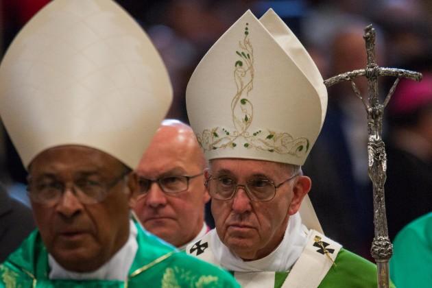 Papa Francesco celebra la Santa Messa per la conclusione del Sinodo Vescovi