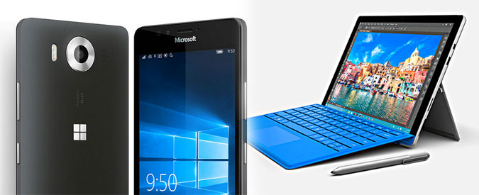 Microsoft  con Surface Book sfida Apple. Svelati Surface Pro 4 e Lumia 950