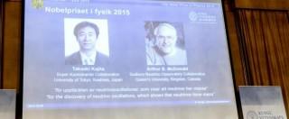 Premio Nobel Fisica 2015, a Kajita e McDonald per ricerche su metamorfosi dei neutrini