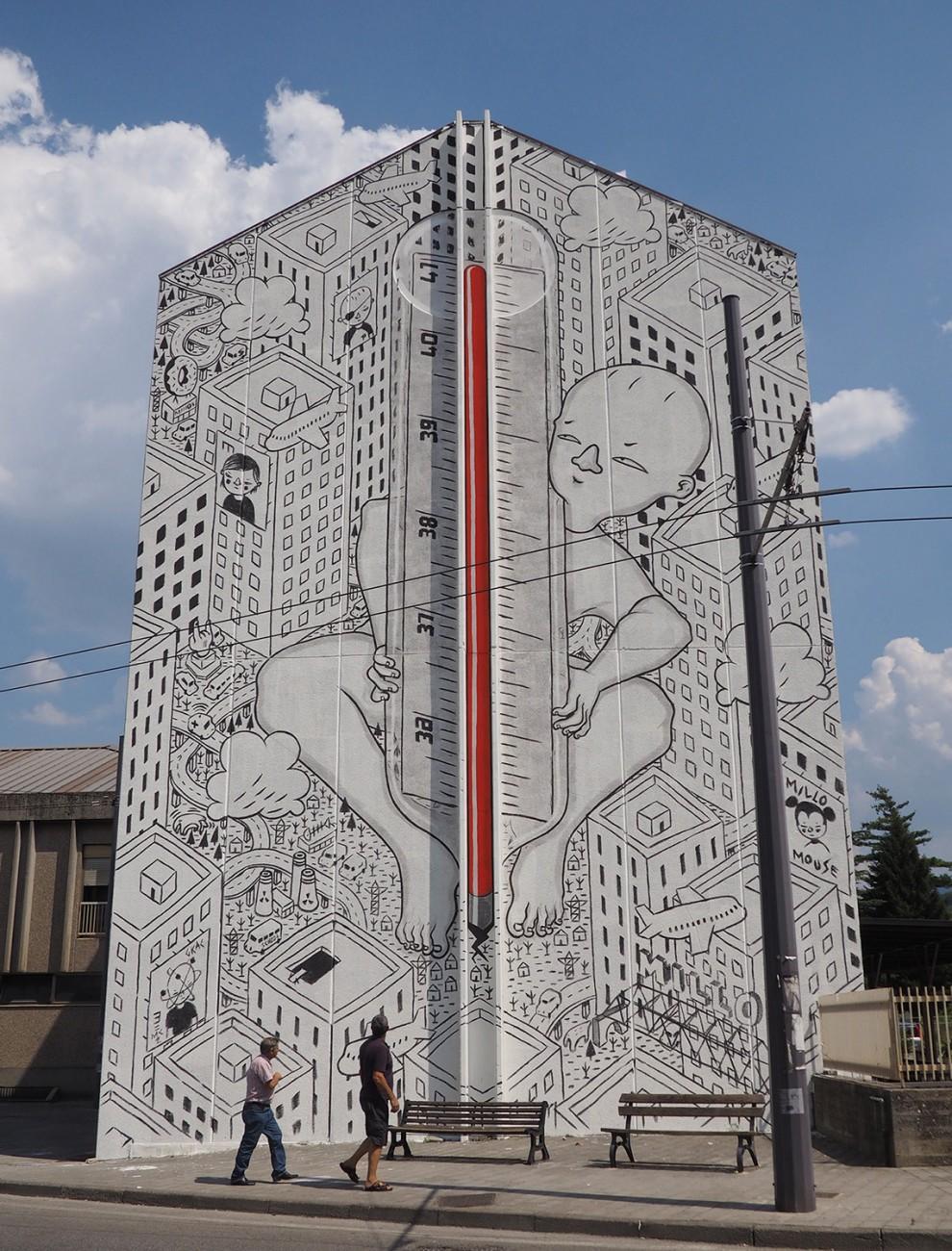 Artist: Millo Place: Avellino – Stazione FerroviariaProject: BOCA – BONITO CONTEST ART – PIANO BFoto di David Ardito