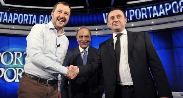 Matteo Salvini ospite di Porta a Porta