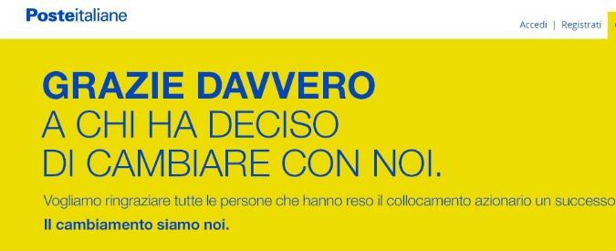 Poste Italiane, la vendita frutterà allo Stato 3 miliardi, uno in meno delle attese