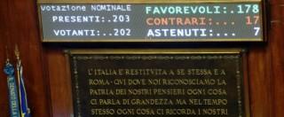"""Riforma Senato, ok alla legge. Aventino delle opposizioni. Napolitano, la star del giorno: """"Ora cambiare l'Italicum"""""""