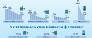 Cellulari, tagliate le tariffe del roaming: chiamare e navigare in Europa costa meno. In attesa dell'abolizione nel 2017