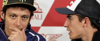 """MotoGp, Yamaha replica a Honda: """"Nessuna prova del calcio di Rossi a Marquez"""""""