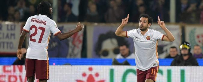 Fiorentina-Roma 1-2: Salah e Gervinho, giallorossi primi in classifica