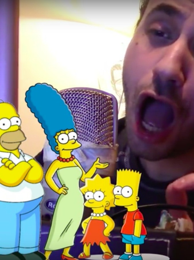 I Simpson cantano Cremonini: il nuovo video di Alberto Pagnotta su YouTube