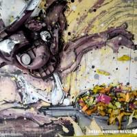 Laboratorio street art con DAKER- Convegno sovranitˆà alimentare a cura di CeVi – Foto Massimo Miani/ElementiSotterranei ©2014 – Gemona del Friuli, 10-05-2015