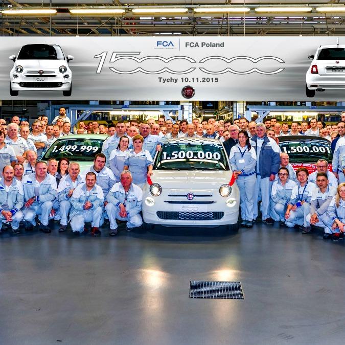 Fiat 500, prodotti 1,5 milioni di esemplari nella fabbrica di Tychy in Polonia
