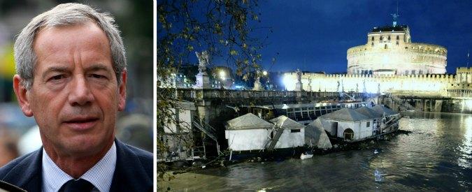 """G8, Bertolaso: """"Nel 2008 per la piena del Tevere pensammo di far saltare Ponte Sant'Angelo"""""""