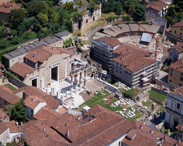 Brescia veduta aerea foro