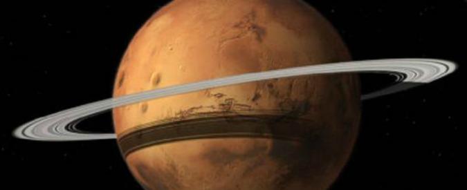 """Marte dovrà dire addio alla sua luna più grande: """"Ma avrà un anello come quelli di Saturno"""""""
