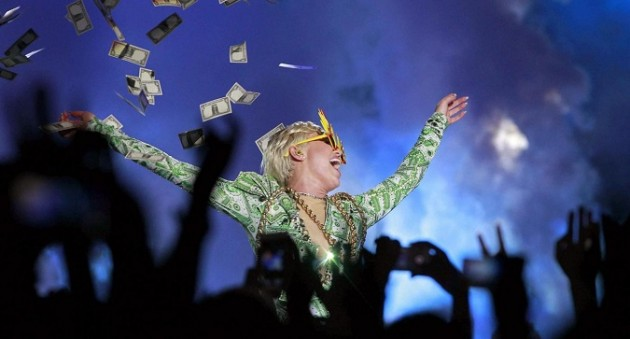 Miley Cyrus in concerto a Barcellona