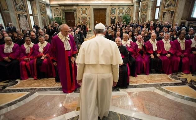 Udienza al Tribunale della Rota Romana in occasione dell'inaugurazione dell'Anno Giudiziario