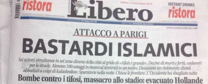 Razzismo e xenofobia, contro il quotidiano di Vittorio Feltri la campagna #Liberodallodio