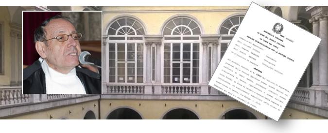 Anticorruzione, il premio lo dà il prof ligure condannato per danno erariale