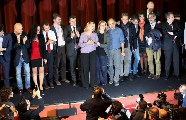 Sinistra Italiana sul palco