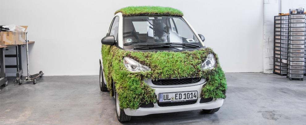 Smart Green Skin rivestita di piante: è l'esperimento 'mangia CO2' di Moovel