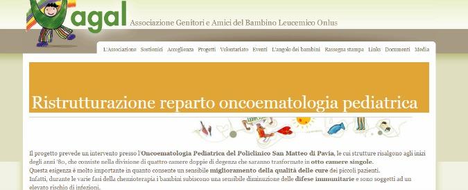 Sanità, raccolta fondi per oncoematologia pediatrica del San Matteo di Pavia
