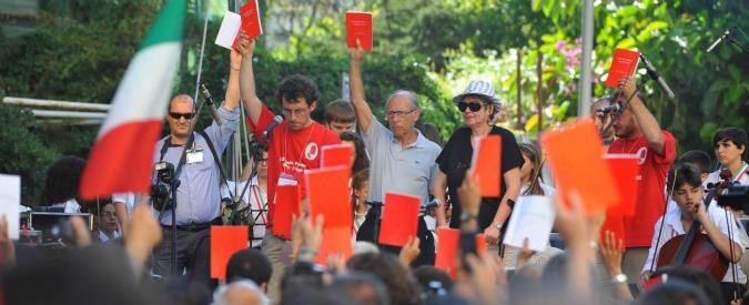 """Agende Rosse, in piazza a Roma per il pm Di Matteo minacciato dalla mafia: """"Rompiamo il silenzio"""""""