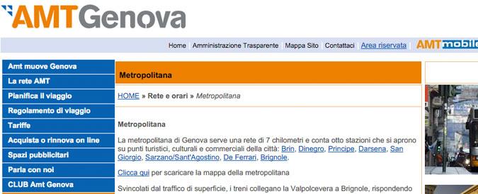 Genova, non c'è spazio sufficiente: fermi i nuovi convogli della metropolitana