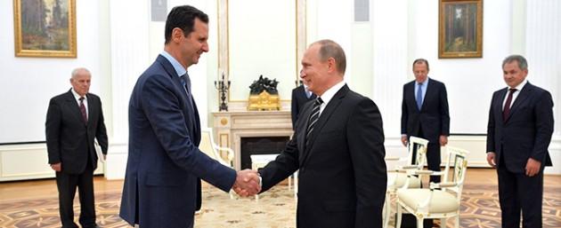 Vladimir Putin incontra Bashar Assad