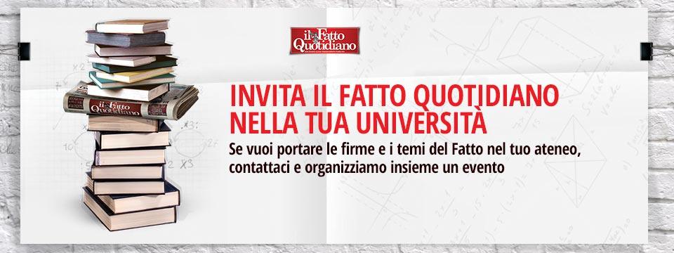 Invita il Fatto Quotidiano nella tua università