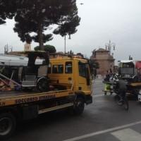 Il fermo dei risciò a Roma