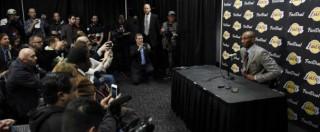 """Kobe Bryant, addio all'Nba della leggenda dei Lakers: """"Sono emozionato per i tanti messaggi di stima"""" – Video"""