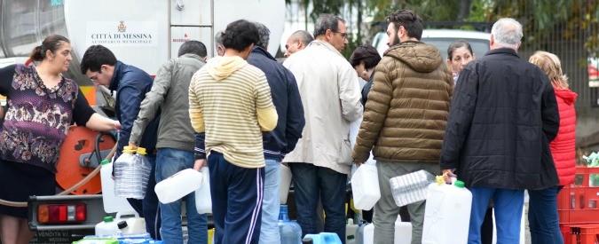 Messina senz'acqua: a Calatabiano frana rompe condotta che rifornisce la città