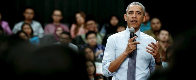"""Attentati Parigi, Obama: """"Non cediamo alla paura, distruggeremo l'Isis"""""""