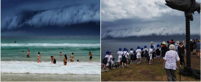 """Sidney, minaccioso e affascinante """"tsunami"""" in cielo: le foto degli utenti su Twitter"""