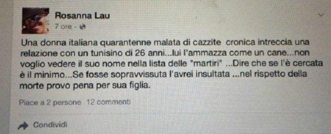 """M5S, la consigliera Rosanna Lau: """"Donna uccisa a Parma? Se l'è cercata"""". Poi le dimissioni"""