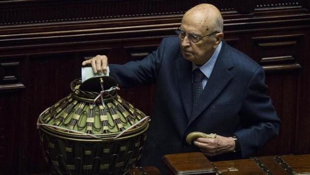 Parlamento riunito in seduta comune per l'elezione di tre giudici della Consulta