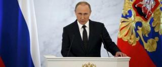 """Putin: """"Jet russo abbattuto? Forse favore a Usa, ora Turchia provi a volare in Siria. Trump? Talentuoso, leader assoluto"""""""